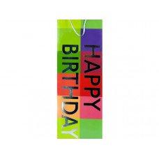 Happy Birthday Bottle Gift Bag