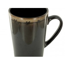 12 oz. Brown & Almond Ceramic Mug