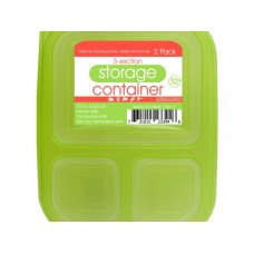 3-Section Food Storage Container Set