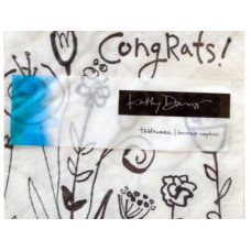 Mod Blooms Congratulations Beverage Napkins