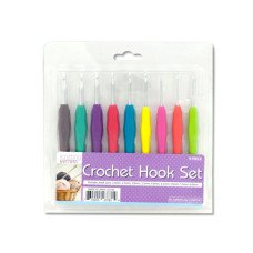 Crochet Hook Set with Colored Handles