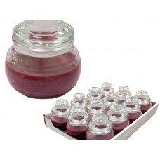 Black Cherry Honeypot Jar Candle Display