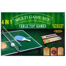 4 in 1 Tabletop Multi-Game Set