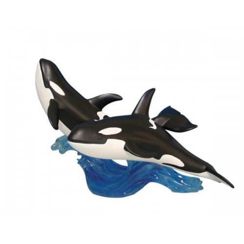 Traveling Whales Figurine