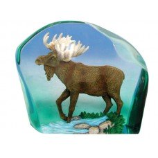 Clearly Moose Clear Resin Figurine