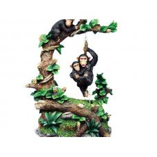 Chimps at Play Musical Figurine