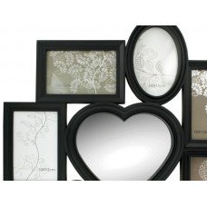 8 in 1 Heart Center Collage Photo Frame