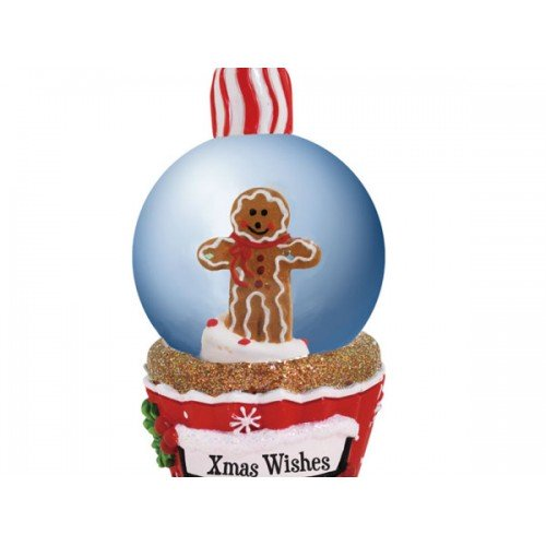 Christmas Wishes Cupcake Globe Ornament
