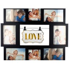 'Love' Sign on Clips Collage Photo Frame