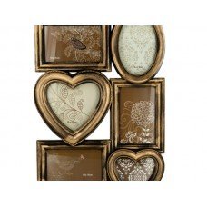 Antique Style Brass Brushed Collage Photo Frame