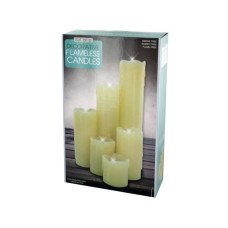 Decorative Flameless Pillar Candles Set