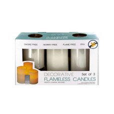 Flameless Vanilla Candles with Remote Control