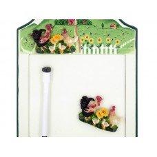 Rooster Magnetic Memo Board & Keys Holder
