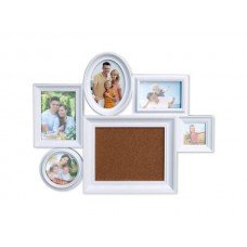 6 In 1 Collage Photo Frame with Cork Board