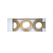 Gold Sunburst Mirror Set