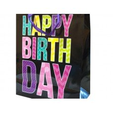 Black Happy Birthday Gift Bag