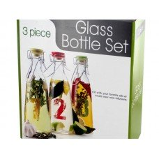 Glass Numbered Oil Bottle Set
