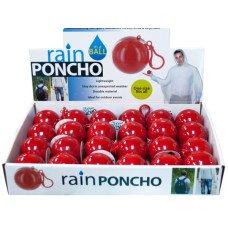 Rain Poncho in a Ball Countertop Display