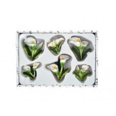 Decorative Calla Lily Magnets Set