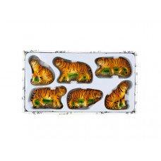 Decorative Safari Tiger Magnets Set