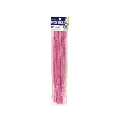 Pink Fuzzy Craft Sticks
