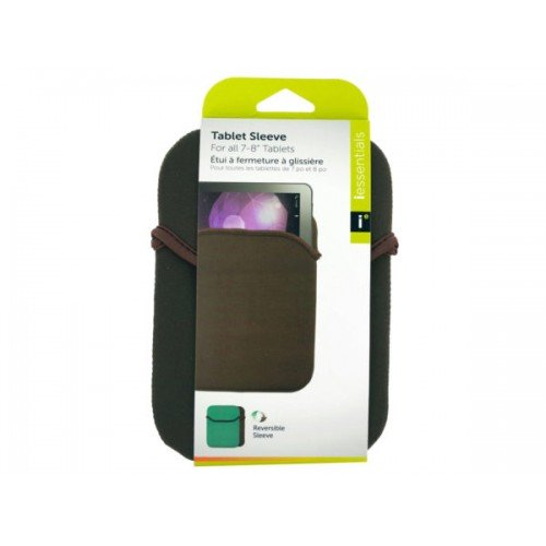 iessentials Small Brown Reversible Tablet Sleeve