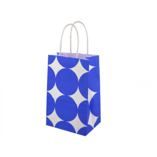 Small Blue Dots Paper Gift Bag