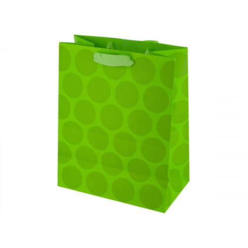 Medium Lime Green Dots Gift Bag