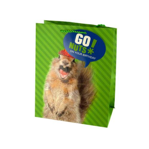 Medium Squirrel Birthday Gift Bag