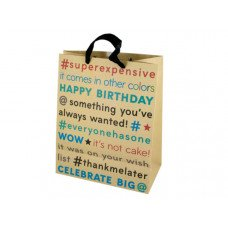 Large Birthday Editorial Craft Paper Gift Bag