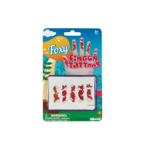Foxy Temporary Finger Tattoos