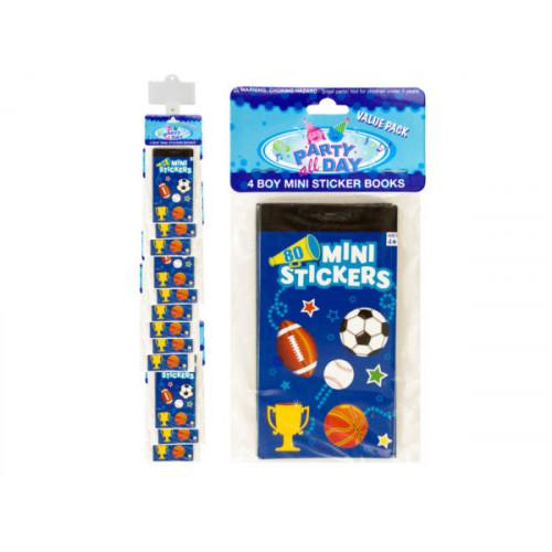 Boy Sports Mini Sticker Book Clip Strip