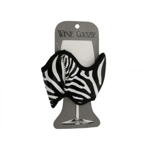 Zebra Print Wine Coozie
