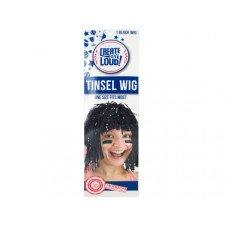 Black Tinsel Wig