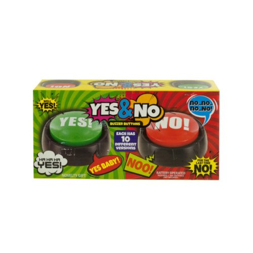 Talking Yes & No Buzzer Buttons