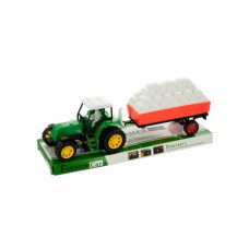 Friction Farm Tractor Truck & Trailer Set