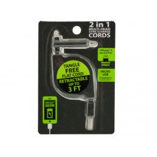 2 in 1 Retractable Multi-Head Sync/Charge Cord