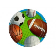 Small Celebrate Sports Party Plates Set