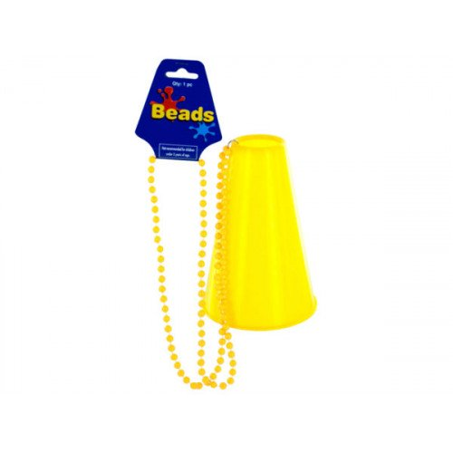Yellow Beaded Party Necklace with Megaphone