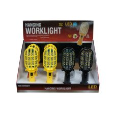 Hanging LED Worklight with Magnetic Base Countertop Display