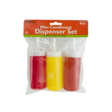 6 oz. Mini Condiment Dispenser Set
