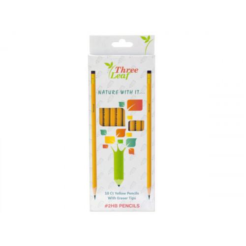 Yellow #2HB Pencils Set