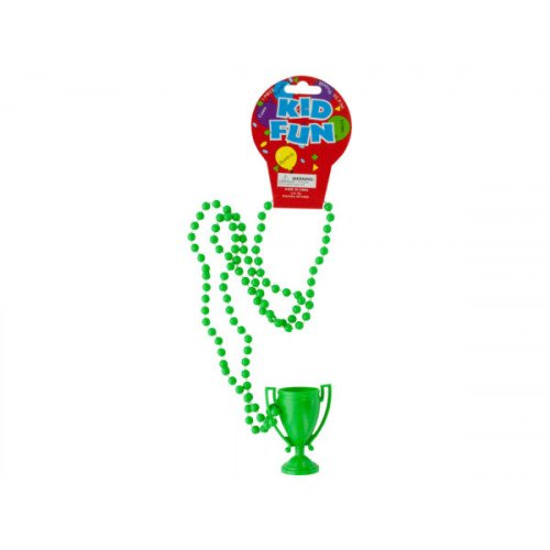 Green Trophy Party Necklace