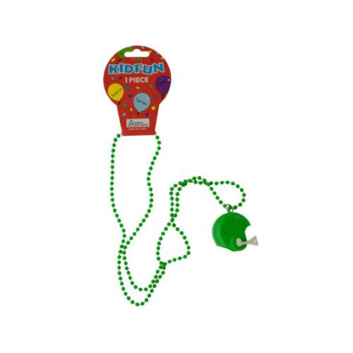 Green Football Helmet Party Necklace