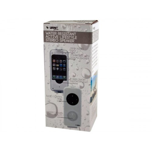 White Water-Resistant Active Lifestyle Stereo Speaker