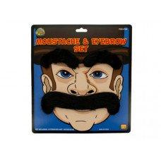 Novelty Moustache & Eyebrows Set
