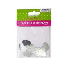 Mini Heart Shape Craft Glass Mirrors