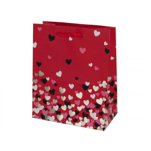 Mini Red Hearts Print Valentine Gift Bag