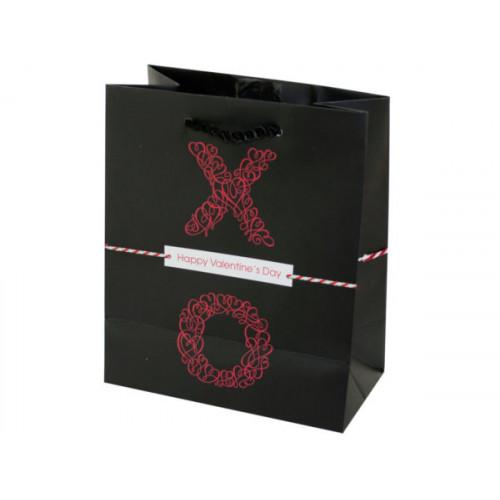 Mini XO Black Valentine Gift Bag