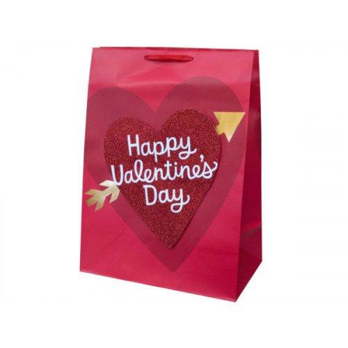 Mega Glitter Heart Valentine Gift Bag
